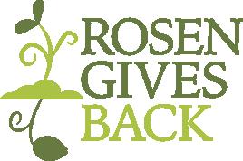 Rosen Gives Back Logo