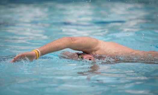 Harris Rosen Swimming at the Rosen Aquatic & Fitness Center in Orlando, Florida