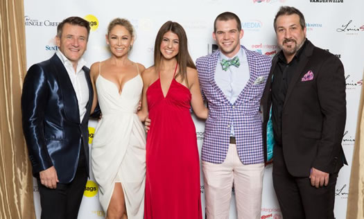 Adam Rosen with celebrites on red carpet
