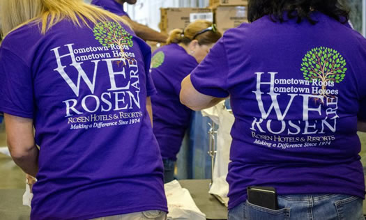 Rosen Gives Back Staff