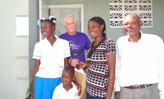Harris Rosen with family in Haiti