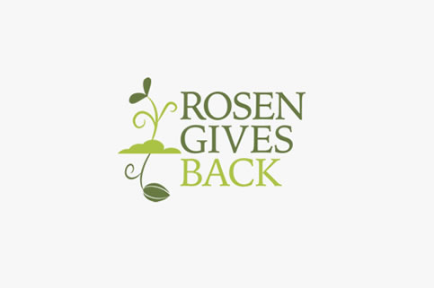 Rosen Gives Back Logo